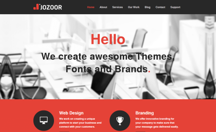 Jozoor - Design Theme, Fonts and Brands