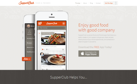 Supper Club App - A Social Food and Friends App