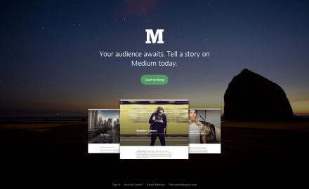 Your audience awaits. Tell a story on Medium today.