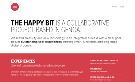 The Happy Bit is a collaborative project based in Genoa.